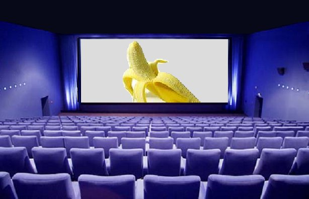 Screen with banana